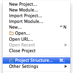Go to 'File' - 'Project Structure'